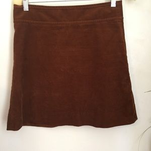 J. Crew Rust Corduroy Mini Skirt Gold Zipper